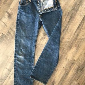 Levi's Button Fly 501 Jeans 35x36 EUC